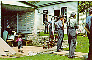 Amish Men Waiting for Outdoor Meal p28722 (Image1)