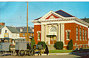 Amish Buggy In Front Of First National Bank,intercourse P28736