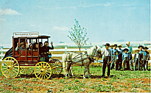 Amish Children in Stage Coach Intercourse Express p28737 (Image1)