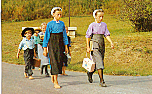 Amish Children Walking Home From School p28747 (Image1)