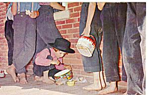 Amish Children at School Postcard p28750 (Image1)