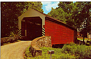 Wengers Mill Covered Bridge Pa Postcard P28755