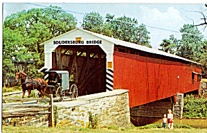 Soudersburg Covered Bridge Pa Postcard P28756