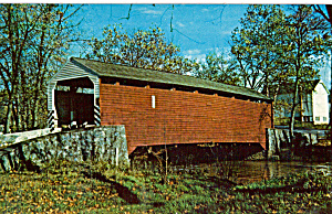 The Old Covered Bridge Pa Postcard P28758