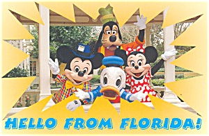 Mickey Minnie and  Donald Postcard p2876 Lot of 2 (Image1)