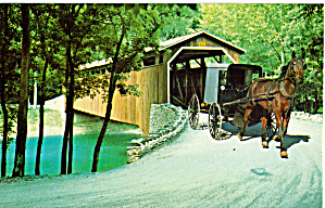 Covered Bridge, Amish Buggy, Pennsylvania (Image1)