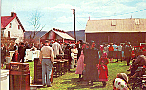 Scene of a Typical Farm Sale Postcard p28849 (Image1)