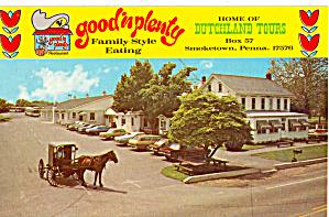 Good n Plenty Family Style Eating Postcard p28861 (Image1)