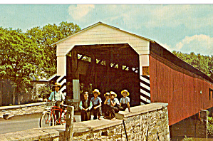 Soudersburg Covered Bridge PA Postcard p28911 (Image1)