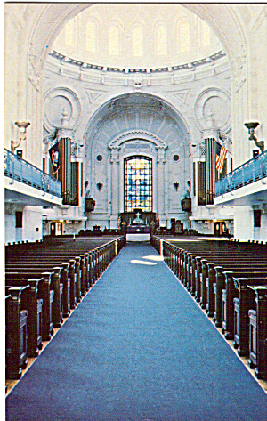Interior of US Naval Academy Chapel Annapolis Maryland  p28941 (Image1)