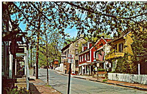 Scene On Mechanic Street, New Hope, Pennsylvania