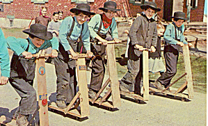 Amish boys at Lil Red Schoolhouse p28979 (Image1)