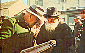 Amish Men at Public Sale Postcard p28986 (Image1)