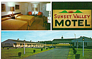 Sunset Valley Motel Lancaster Pennsylvania P29090