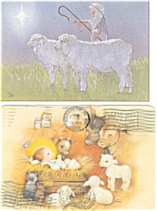 Christmas Postcards with Sheep Lot (Image1)