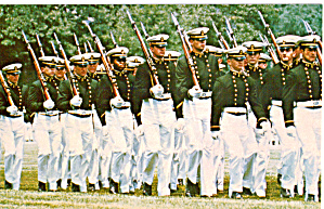 Midshipmen Marching Naval Academy Annapolis Maryland P29142