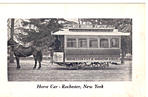 Horse Drawn  Street Car, Rochester, New York (Image1)