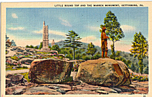Little Round Top And Warren Monument Gettysburg Pa P29243