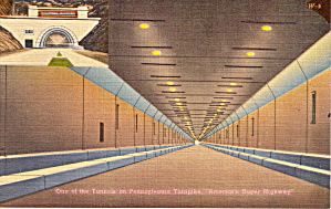 One Of Tunnels On Pennsylvania Turnpike