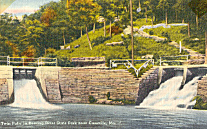 Twin Falls, Roaring River State Park, MO Postcard (Image1)