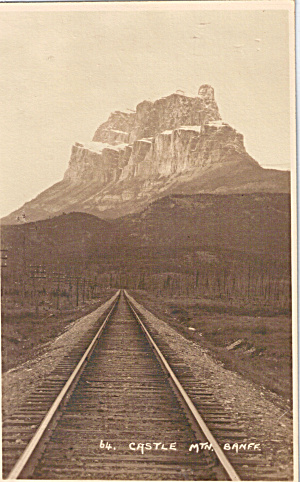 Castle Mountain Banff Alberta RPPC p29263 (Image1)