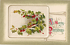 A Merry Christmas Holly Decorated (Image1)