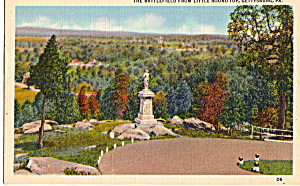 Gettysburg Battlefield From Little Round Top (Image1)