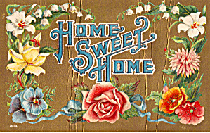 Home Sweet Home Embossed Postcard P29302
