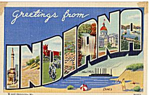 Indiana Big Letter Postcard p29304 (Image1)