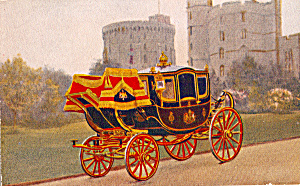 Royal Carriage Raphhael Tuck Royal Mews, Windsor Caslte