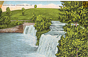 Elkhorn Falls Richmond Indiana Postcard P29321