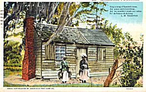 De Cabin Home in Dixieland Postcard p29350 (Image1)