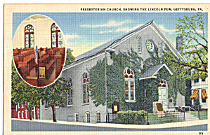 Presbyterian Church Lincoln Pew Gettysburg PA p29362 (Image1)