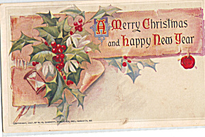 Vintage Christmas Postcard Dated 1907 (Image1)