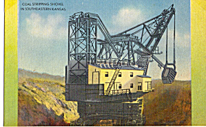 Coal Stripping Shovel, Kansas Postcard p29389 (Image1)