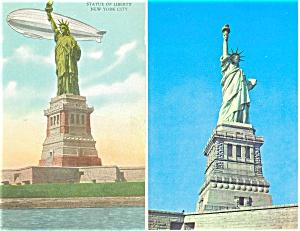 Statue of Liberty New York Harbor Postcards Lot 2 p2938 (Image1)