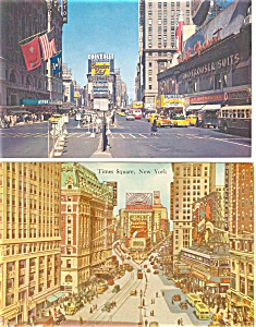 Times Square New York City Postcards Lot 2 p2939 (Image1)