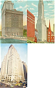 New York City  Skyscrapers  Postcards Lot 3 p2943 (Image1)
