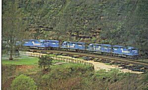 Conrail SD45 Locos on Horseshoe Curve Altoona PA p29521 (Image1)