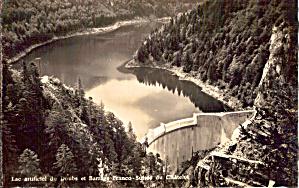 Emosson Dam Finhaut Valais Switzerland Postcard p29545 (Image1)