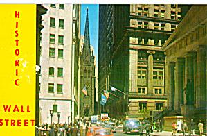 Historic Wall Sreet New York City p29562  cars 50s (Image1)