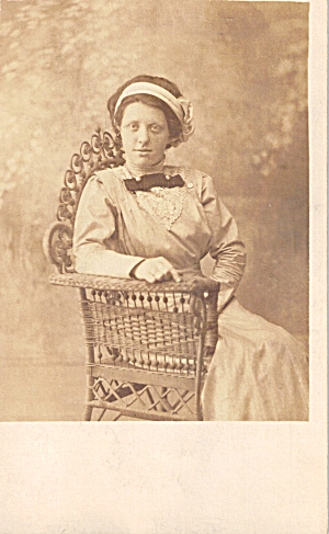 Woman in Wicker Chair Postcard p29618 (Image1)