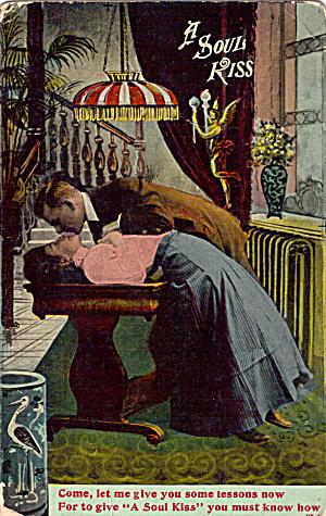A Soul Kiss Vintage Postcard (Image1)