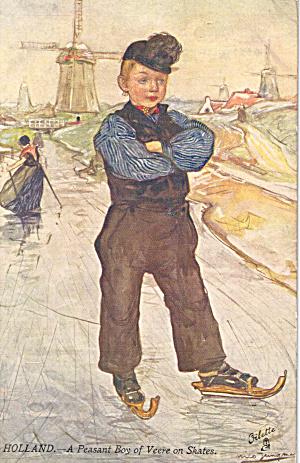Holland A Peasant Boy of Veere on Skates  Raphael Tuck p29635 (Image1)