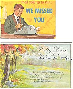 Sunday School Postcard p2965 Lot of 2 (Image1)