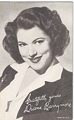 Diana Barrymore Arcade Card (Image1)