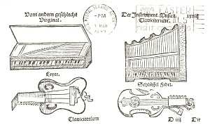 Musical Instruments Artwork Postcard