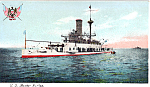 US Navy Monitor Puritan BM 1 Postcard p29728 (Image1)