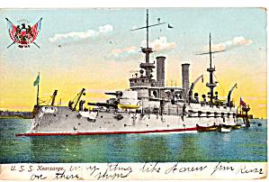 US Navy Battleship  Kearsage BB 5 Postcard p29729 (Image1)