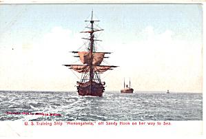 US Navy Training Ship Monongahela Postcard p29731 (Image1)